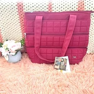 New With Tags Lug Taxicab Tote in Burgundy
